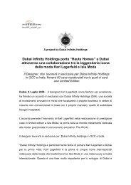 Comunicato Stampa - Social Media Release