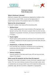 Parkinson's Disease Backgrounder - Social Media Release