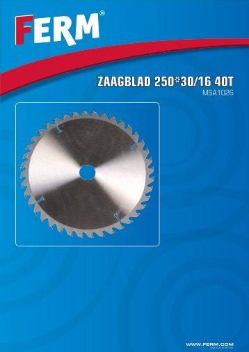 ZAAGBLAD 250*30/16 40T - FERM.com