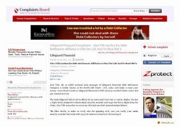 Lifeguard Financial Complaints - Get Out of Debt Guy