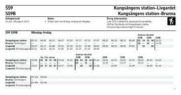 559 Kungsängens station–Livgardet 559B Kungsängens ... - SL