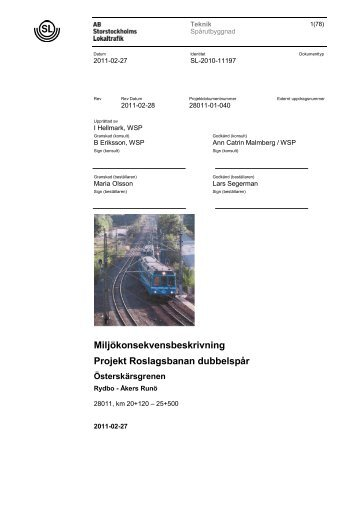 Miljökonsekvensbeskrivning Pdf 14 Mb - SL