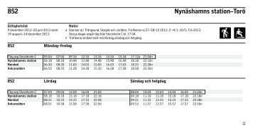Nynäshamns stn - Torö - SL