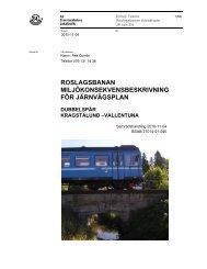 Miljökonsekvensbeskrivning för järnvägsplan ... - SL