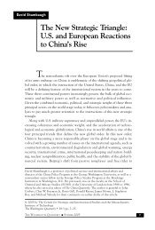 US and European Reactions to China's Rise - Elliott School of ...