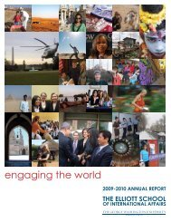 engaging the world - Elliott School of International Affairs - The ...