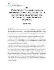 Post-Combat Stabilization and Reconstruction - Elliott School of ...