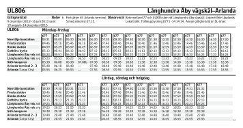 UL806 Långhundra Åby vägskäl–Arlanda - SL