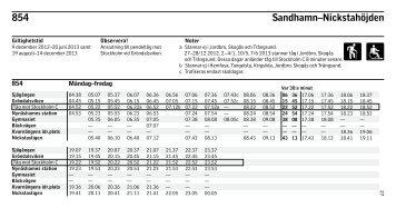 854 Sandhamn–Nickstahöjden - SL