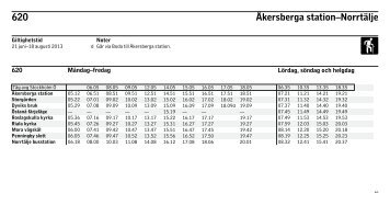 620 Åkersberga station–Norrtälje - SL