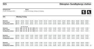515 Odenplan–Sundbybergs station - SL