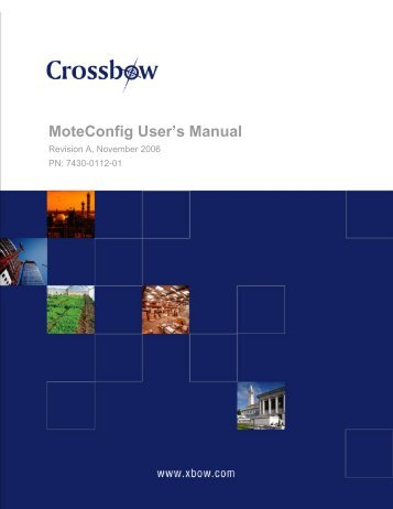 MoteConfig User's Manual - Crossbow Technology