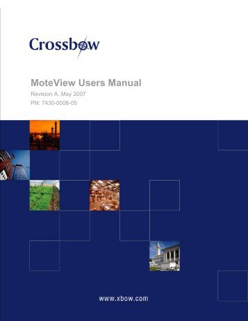 MoteView Users Manual - Crossbow Technology