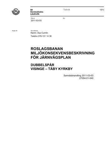 Miljökonsekvensbeskrivning. Pdf (5 Mb) - SL