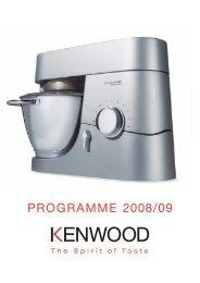 PROGRAMME 2008/09 - KENWOOD SWISS AG