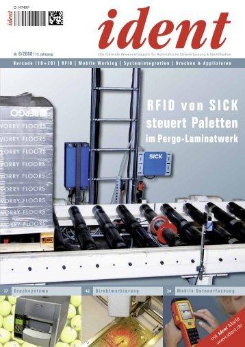 RFID von SICK steuert Paletten