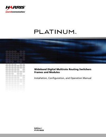 Wideband digital multirate routing switchers frames ... - Biznine.com
