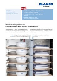 The new thermal partition wall: Effective insulation, easy cleaning ...