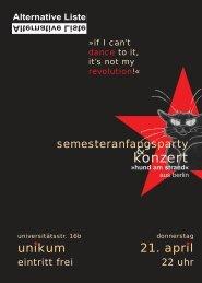 Party neu SoSe 2005 mit Katze.qxd - Alternative Liste an der Uni Köln