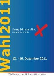Wahlzeitung 2011 - Alternative Liste an der Uni Köln - Universität zu ...