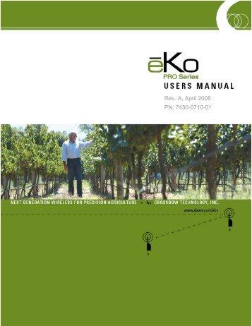 ēKo Pro series User's Manual - Crossbow Technology
