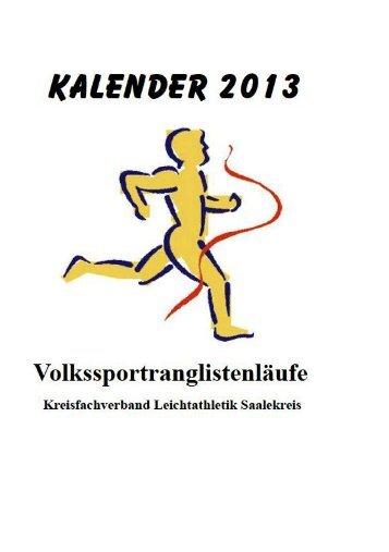 Laufkalender Saalekreis 2013 - SV Teutschenthal