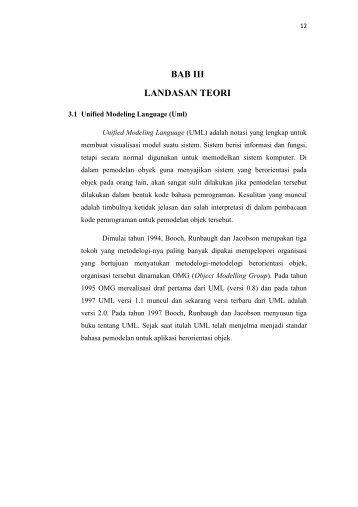 BAB III LANDASAN TEORI