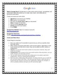 What is Google Docs? Google Docs is a free online word processor ...