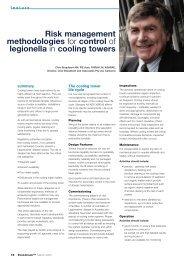Risk management methodologies for control of legionella in cooling ...
