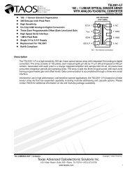 TSL3301−LF 102 × 1 LINEAR OPTICAL SENSOR ARRAY WITH ...