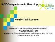 Herzlich Willkommen 3.gz-Energieforum in Garching
