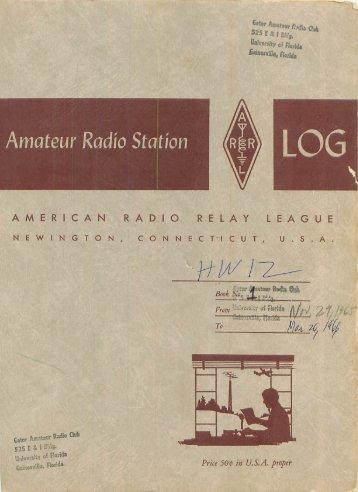 Logbook 1 - The Gator Amateur Radio Club