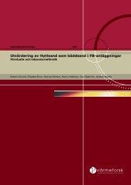 Utvärdering av Hyttsand som bäddsand i FB-anläggningar - Luleå ...