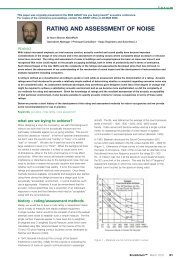 Rating and Assessment of Noise - EcoLibrium March 05 - Australian ...