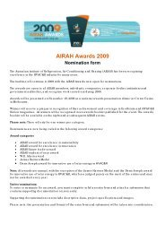 Download the 2009 AIRAH Awards entry form - Australian Institute of ...