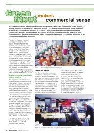 Green fitout makes commercial sense - EcoLibrium Nov 05