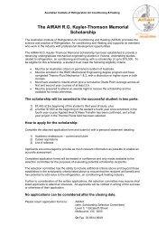 application form - Australian Institute of Refrigeration Air ...