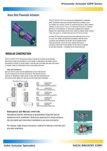 Pneumatic Actuator DJPH Series
