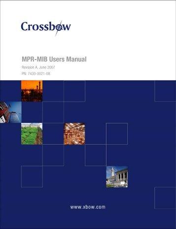 MPR-MIB Users Manual - Crossbow Technology