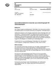 Genomförandebeslut avseende nya anslutningsspår till ...