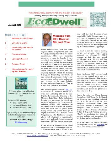 August - International Institute for Building Biology and Ecology