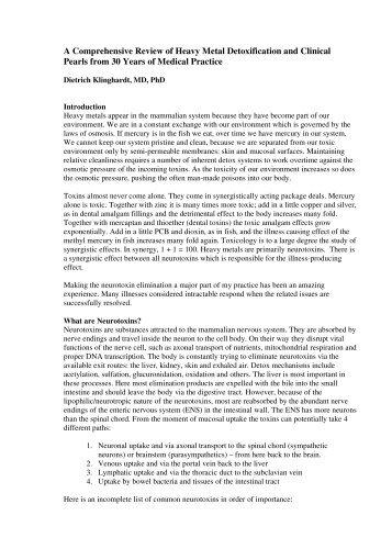Heavy Metal Detoxification - International Institute for Building ...