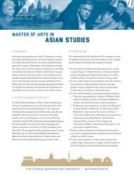 Download the AS Program brochure - Elliott School of International ...