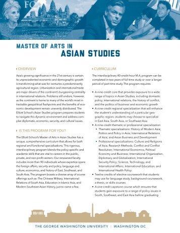 Download the AS Program brochure - Elliott School of International ...
