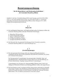 Benutzungsordnung - Ehrenberg