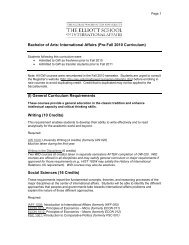 (I) General Curriculum Requirements - Elliott School of International ...