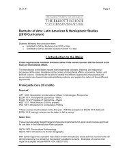 Bachelor of Arts: International Affairs - Elliott School of International ...