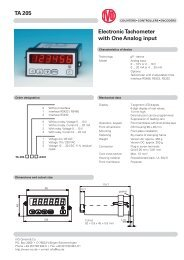 TA 205 Electronic Tachometer with One Analog input