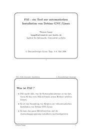 FAI - ein Tool zur automatischen Installation von Debian GNU/Linux ...