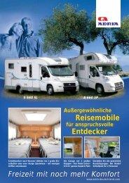 Reisemobile Entdecker Reisemobile Entdecker - M/S VisuCom GmbH